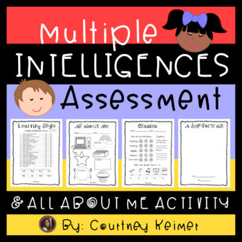 It is a picture of Multiple Intelligence Test Printable within student