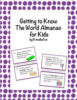Getting to Know The World Almanac for Kids by KMediaFun