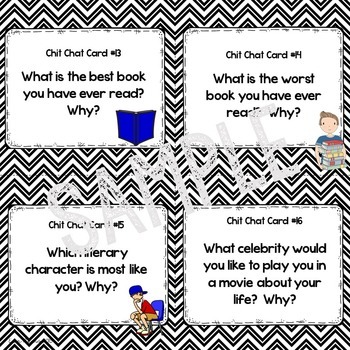 Getting to Know YOU!  Back to School Chit Chat Cards for Grades 4-8