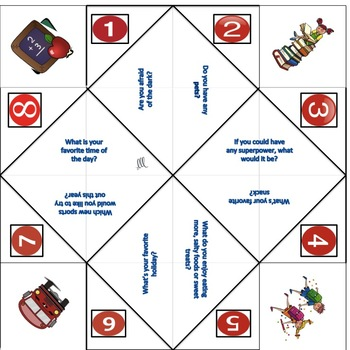 Getting to Know You - 10 Back to School Cootie Catchers and 2 Blank Templates