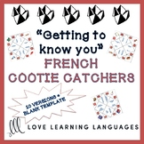 Getting to Know You - 10 French Cootie Catchers and Blank Template