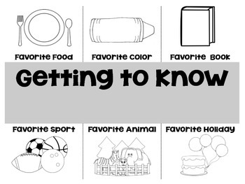 """Getting to Know You"" Activity for Back to School"