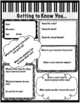 Getting to Know You- Music Edition (Editable)