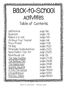 Back-to-School & Getting-to-Know-You Activities, Crafts, Read-Alouds