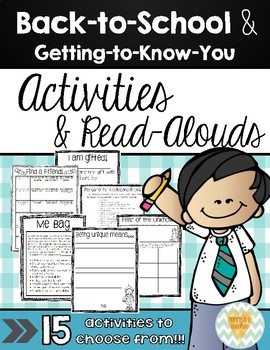 15 Back-to-School Activities, Projects, Crafts, Read-Alouds