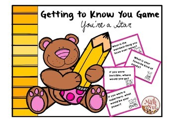 Back to School: Getting to Know You Game