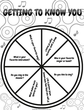 Getting to Know You - A Music Fidget Spinner Game