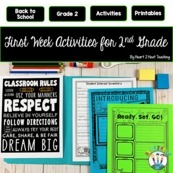 First Week of School Activities for 2nd Grade Google Slides | Distance Learning