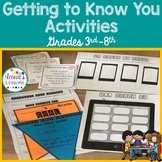 Getting to Know You Activities