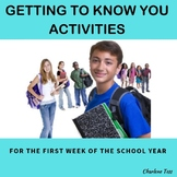 Getting to Know You Back to School Activities