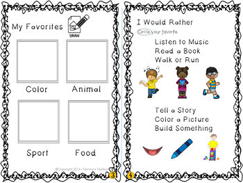 Getting to Know Me Activity Book