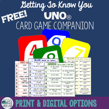 Getting to Know You Card Game Companion