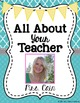 Getting to Know You All About Me Bundle