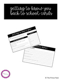 Getting to Know You - Back To School