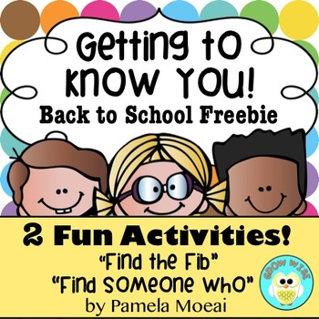Back to School Freebie Fun: Getting to Know You!