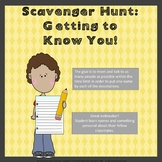Getting to Know You: Back to School Scavenger Hunt
