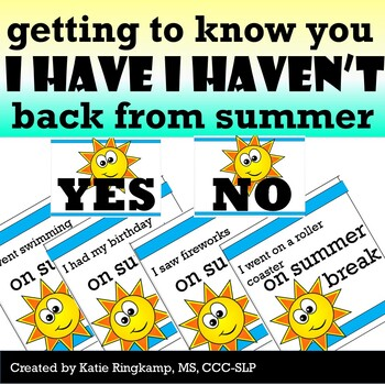 Back to School Activity: Getting to Know You and Your Summer
