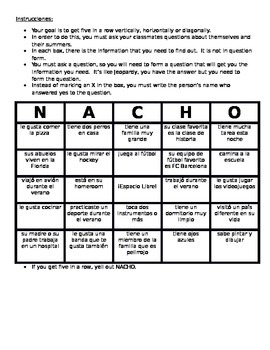 Getting to Know You Bingo - Version 2