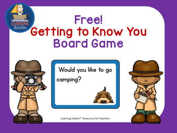Getting to Know You Board Game