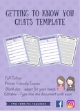 Getting to Know You Chats Template