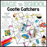 Getting to Know You Cootie Catcher for Back to School