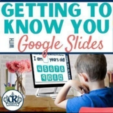 Getting to Know You Distance Learning Activity for Google Slides
