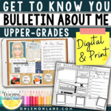 Getting to Know You Distance Learning Back To School Digit