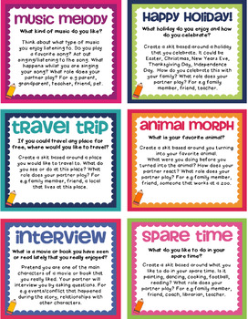 Back to School - Getting to Know You Drama Scenarios