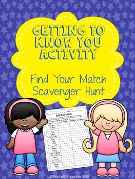 Getting to Know You Find Your Match Scavenger Hunt