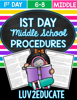 Getting to Know You Middle School Procedures