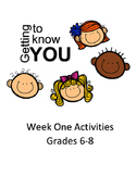 Getting to Know You-First Week Activities