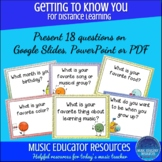 Getting to Know You | Music Themed | For Distance Learning