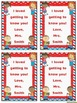 Getting to Know You Form & Card (EDITABLE) ~ Red, White & Blue Chevron