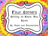 Getting to Know You Four Corners Game - Tie Dye