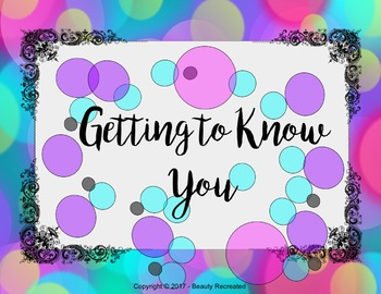 Getting to Know You Game Activity - Printable