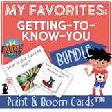 Getting to Know You Game : My Favorites Print & BOOM Cards™ BUNDLE