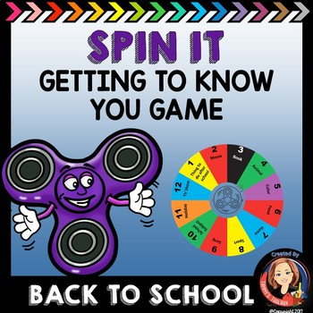 Back to School Getting to Know You Game