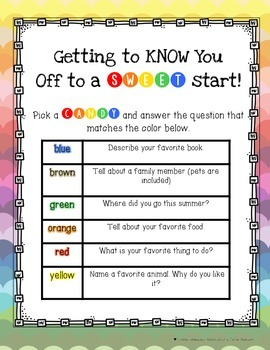 Getting to Know You Game with CANDY