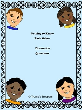 Getting to Know You- How does this student think about their world.