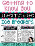 Back to School Activities Getting to Know You Ice Breakers