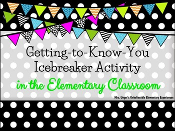 Getting to Know You Icebreaker Activity