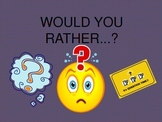 "Getting to Know You Icebreaker ""Would You Rather"" Powerpoint Activity"
