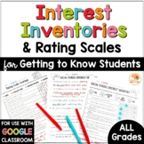 Getting to Know You Activities | Interest Inventory and Ra