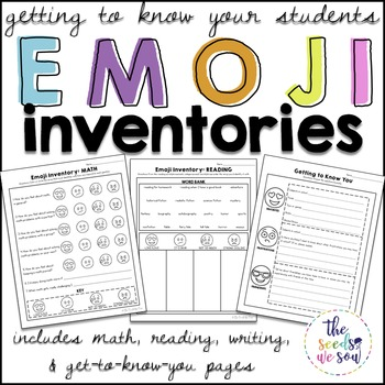 Getting to Know You Inventories {Emoji-Style}