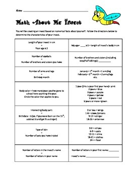 Getting to Know You Math Activity