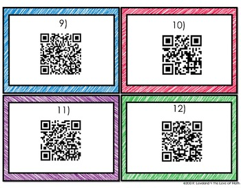 Getting to Know Your Math Students Task Cards: 16 Cards Included! (Secondary!)