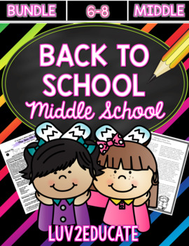Getting to Know You Bundle for Middle School Teachers