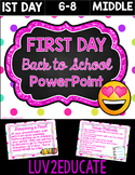 Getting to Know You Middle School Procedures PPW
