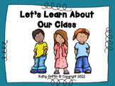Back to School Let's Learn About Our Class Mini-Video
