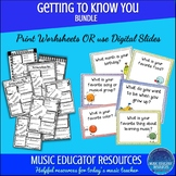 Getting to Know You Music BUNDLE